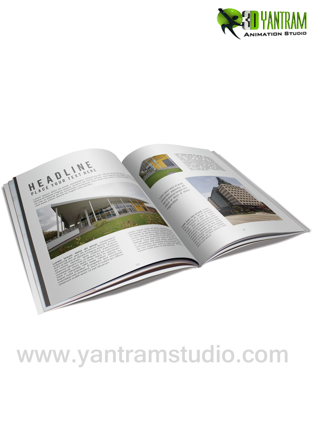 Real Estate Booklet Services By Yantram website development - New jersey, USA - Digital Media Branding & Broadcasting Agency provides highly creative Interactive web app, Web Development, corporate identity. by yantramstudio