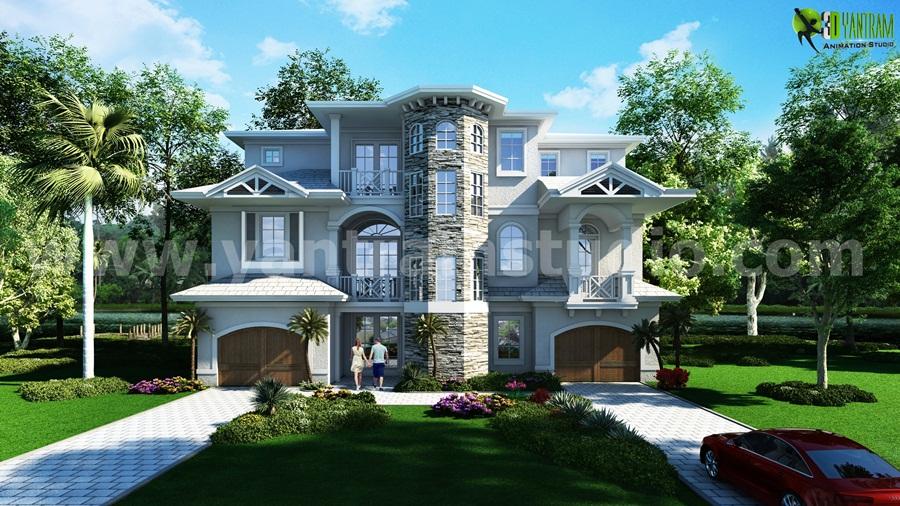 Classic Exterior House Exterior Rendering Cgi Design Yantramstudio