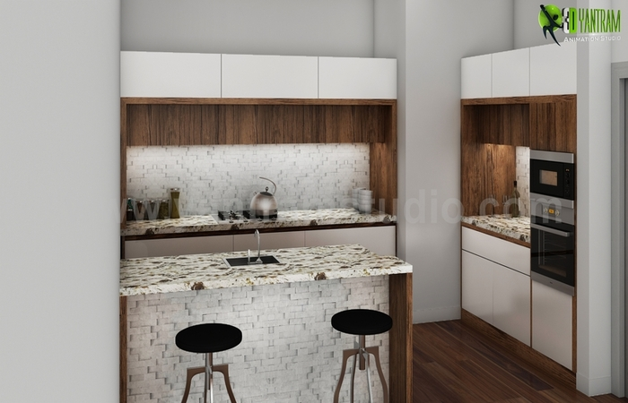 Amazing kitchen Interior Design Rendering - architectural design home plans , interior design for home by yantramstudio