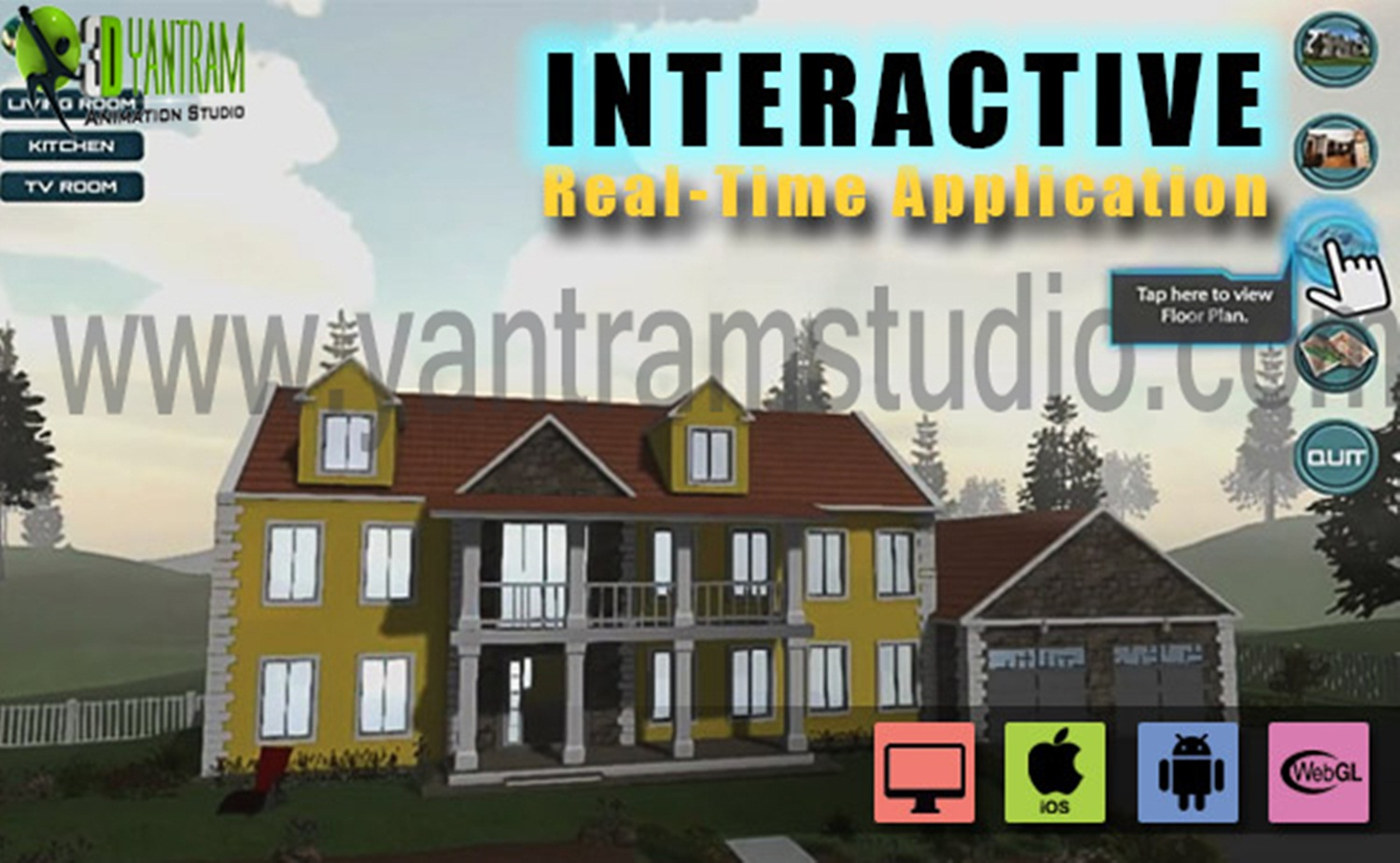 Interactive Virtual Reality By Yantram Virtual Reality Developer - Washington, USA - VR Realstate marketing-oriented website that is well designed with calls to action can literally catapult your real estate business to the next level. Ninety-two percent of home buyers use the internet. by yantramstudio