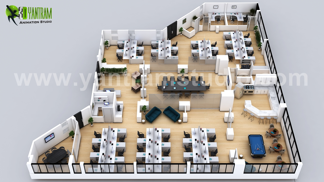 3d-office-floor-plan-design-developer-ideas-concept-by-yantram-developer.jpg - Project 34 : 3D Office Floor Plan Design