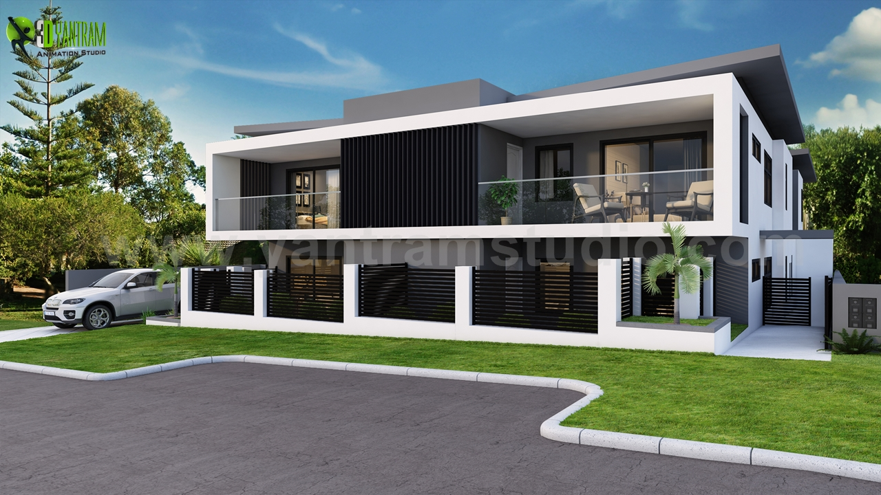 Dream House Exterior Rendering Ideas in USA - 3D rendering is a profitable device for outlining houses and different kinds of properties today. The article clarifies how 3D rendering can enable people to fabricate their fantasy home.
