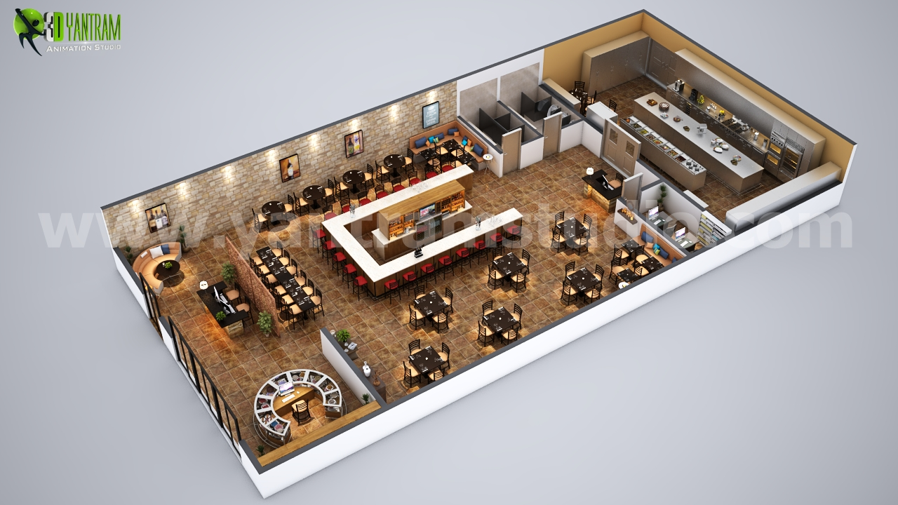 Fully Modern Bar 3d Floor Plan Design Ideas Berlin