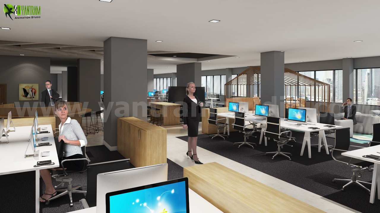 Workstation Ideas Office Interior Computer Design | Incredible ...