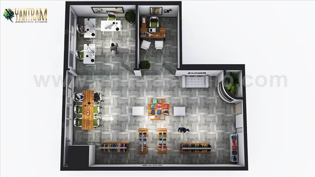 Open Concept Cloth Showroom Floor plan design - Project 194:- Modern Cloth Showroom Floor Plan design Ideas