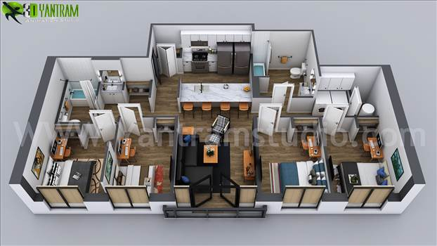 Floor plans are usually drawn to show exact property area and room types. some are come along with appliances and furniture for the better idea about placement and space utilization.