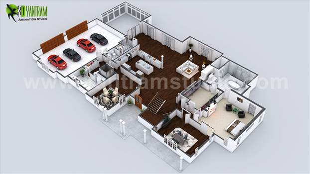 Beautiful Modern 3D Home Virtual Floor Plan - Project 144: Beautiful Modern 3D Home Virtual Floor Plan 