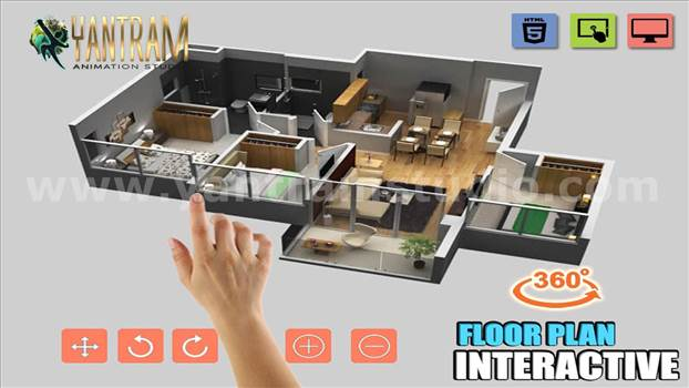 Interactive Residential house 3Dvirtualfloordesign - Project 758:- Interactive Residential House 3d Virtual floor plan design
