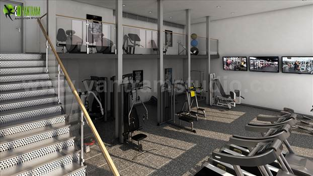 Modern 3D Interior Design of Apartment with Gym - Project 142: Interior Design of Apartment with Gym