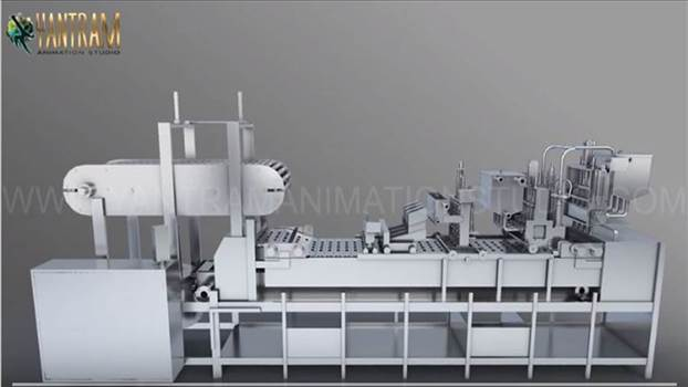Vacuum FILLING Machine of 3d Product animation - Project 901:- Processing Vacuum FILLING Machine