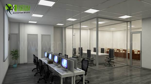 Yantram Studio has expert Designer team for 3D Interior Design of Commercial Office, photorealistic Interior Rendering, CGI Design studio, Interior Design studio. Visualize & conceptualize your office property before it built.