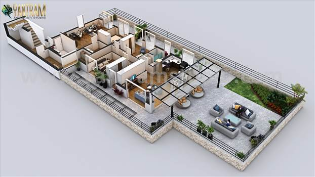 Penthouse 3d floor plan design ideas - Project 175:- Penthouse 3d floor plan ideas 