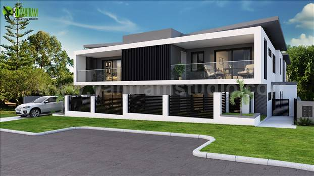 A Complete set for Marketing of Residential House - How to sell your property at a good price? We are an Architectural Studio providing the best 3D Rendering for all kind of properties. Most important areas for residential property is Exterior, Living-Kitchen & Bathroom.