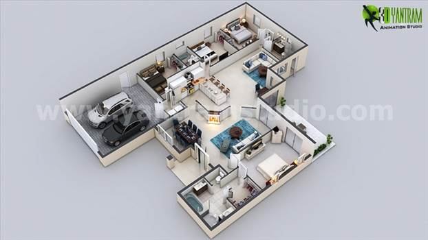 Modern 3D Floor Plan Design, Our 3D Floor Plan Studio has collection of Trendy and Modern Floor Plan Ideas for your Property. We have expertise 3D Floor Plan Creator USA, 3D floor Design London, 3D Home Floor Plans Mexico, Architectural Floor