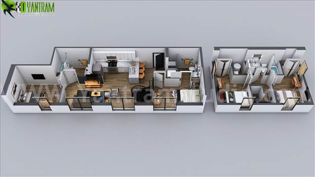 3D Home Floor Plan Designs - Washington, USA - Project 51 : Floor Plan