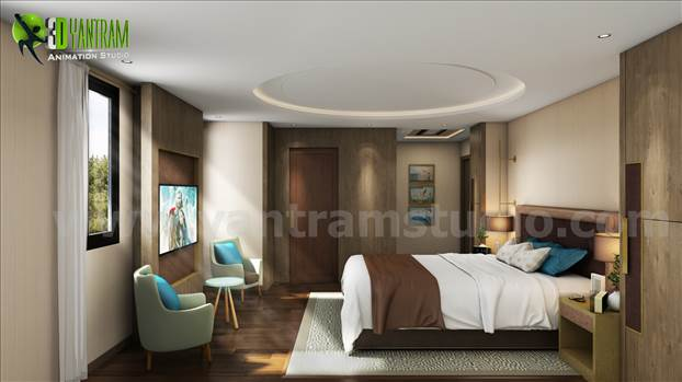 Creative Modern Bedroom Design Ideas - Modern Affordable bedroom interior design for your own dream house where you can get rid of your whole days's stress. Concept and design ideas by professional interior designer - Yantram Studio.