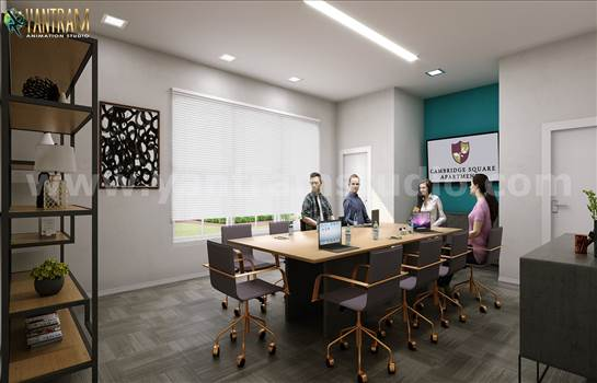 Modern Conference Room 3D Interior Modeling - Project 193:- Modern Conference Room Design Concept 