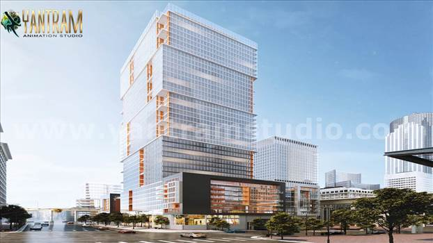 Impressive High-rise Architecture Building Design - Project 857:- High-rise & latest Architecture 3D Exterior Building