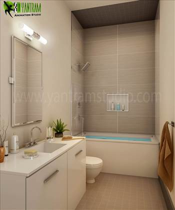 Modern Common Bathroom Interior Design, Our Interior Design Studio has collection of elegant and modern interior design ideas for your property. We are expert in Architectural design studio, 3D Architectural Design, 3D Interior Design, Architectural Visua