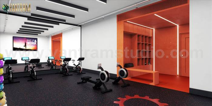 Commercial Fitness GYM 3D Interior Designers Ideas - Project 847:- Commercial Fitness GYM 3D Interior Designers Ideas