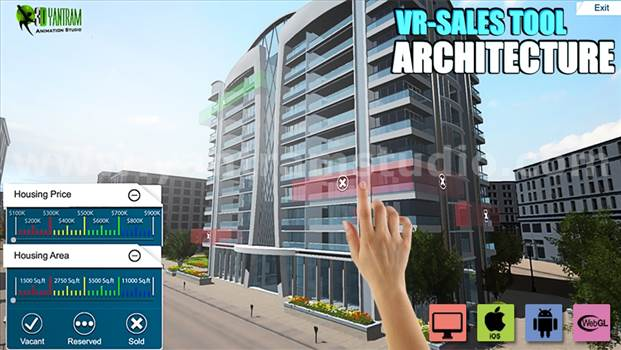Interactive Web Base Real Estate Architect - Project 621:- Web base Real estate Architecture VR Apps Development 